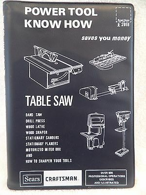 1975 Sears Roebuck Power Tool Know How Table Saw Vintage Instruction Book NOS