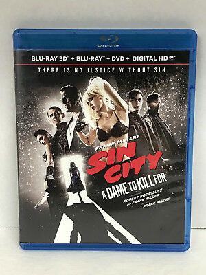 """Frank Miller's Sin City """"A Dame to Kill For"""" Blu-Ray 3D DVD Movie Jessica Alba"""