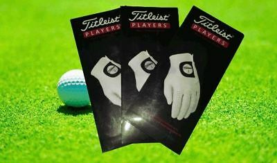 Golf Titleist Players Gloves Left Handed for Right Handed Male (Pack of 3)