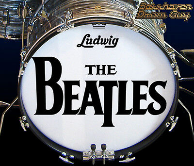 The Beatles, Sullivan '64, 50th Anniversary Repro, Bass Drum Logo Decal Set