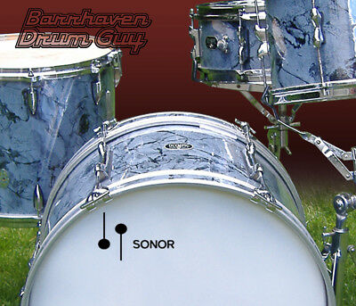 Sonor, 60s Vintage, Repro Logo - Adhesive Vinyl Decal, for Bass Drum Reso Head