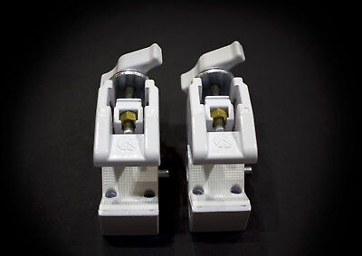 Lot of Two (2) Manfrotto Art. 035 Super Clamps (White)