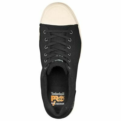 Timberland Shoes Mens Disruptor Alloy Safety Toe Black/White Canvas A1GV4