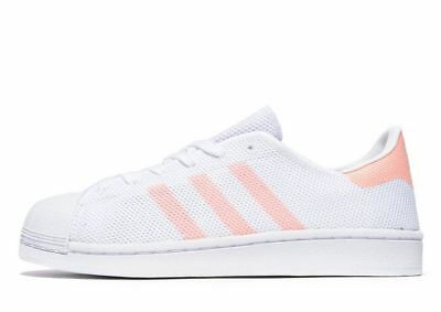 d1d3bda719db adidas Originals Superstar Mesh Girls Women s Trainer (Variable Sizes)  White BN