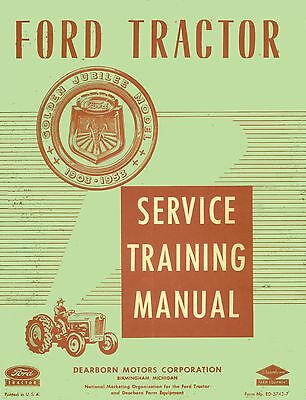 ford naa golden jubilee tractor service shop repair manual engine rh picclick com 1954 Ford Naa Jubilee Tractor Ford Jubilee Tractor Attachments