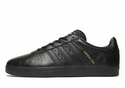 adidas Originals 350 Leather Men's Trainer (Variable Sizes)Black Brand New In Bx