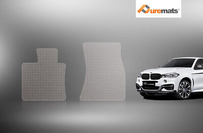 Puremats Heavy Duty Crystal Clear Floor Mats For 2014-2019 BMW X6 Two Front