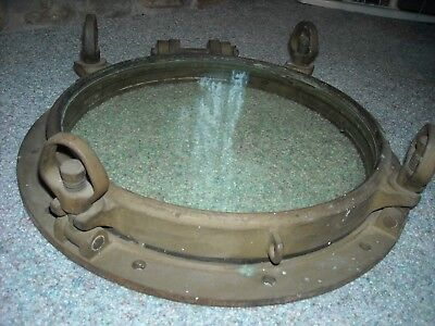 bronze porthole nautical vintage marine decor 20 inch diam