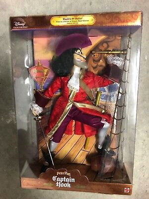 Disney Collectors Masters Of Malice Peter Pan's Captain Hook Doll by Mattel