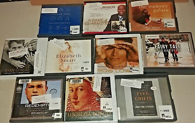 Biography Memoir Audio Books Lot of 10 on CD FREE SHIPPING Unabridged A-18