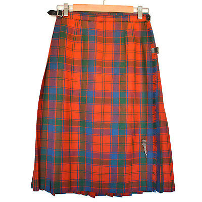 "Vintage Scottish Kilt Sz 10 28"" Original Pin Tartan Gift Shop Edinburgh Scotland"