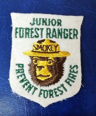 Smokey The Bear Junior Forest Ranger Prevent Forest Fires Patch