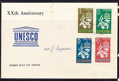 Lesotho 1966 UNESCO 20th Anniversary First Day Cover