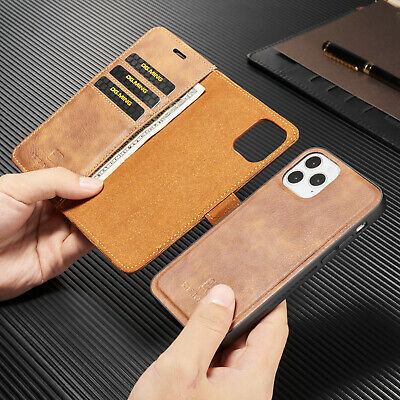 iPhone 11 Pro Max XS 6 7 8 Plus Case Luxury Leather Removable Wallet Case Cover