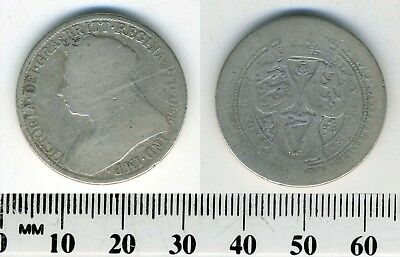 Great Britain 1894 - 1 Florin (Two Shillings) Silver Coin - Queen Victoria