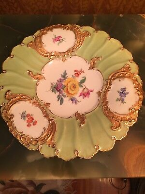 19th Cent Meissen Porcelain Cabinet Plate Fine Stamp gild  hand painted  raised