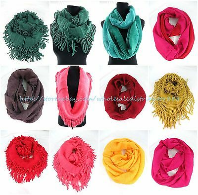 US SELLER-10pcs winter warm cowl neck infinity scarf wholesale lot bulk winter
