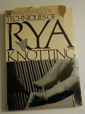 Techniques Of Rya Knotting Donald Wilcox 1971 Hardcover Vintage 70 Style Photos