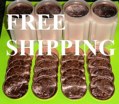 20 Ounces (1 FULL TUBE) Of Copper Coins 1 oz Each Walking Liberty Bullion Rounds