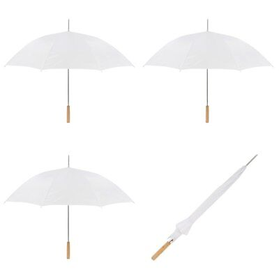 OPENBOX Anderson Wedding Umbrella (Pack of 10), White, 48-Inch