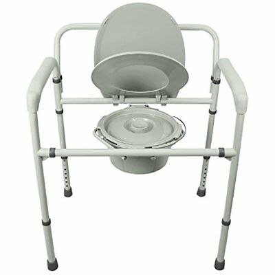 Bedside Commodes Bariatric By Vive In Toilet Chair Extra Wide, Pre-Assembled