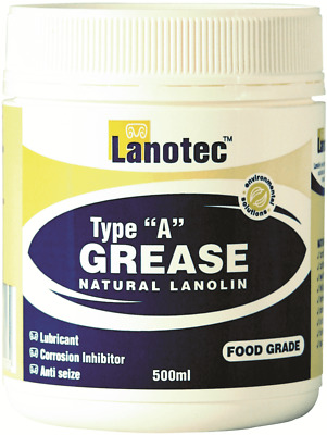 Lanotec TYPE 'A' LANOLIN GREASE 500ml Lubricant,Food Grade, Anti-Seize*AUS Brand