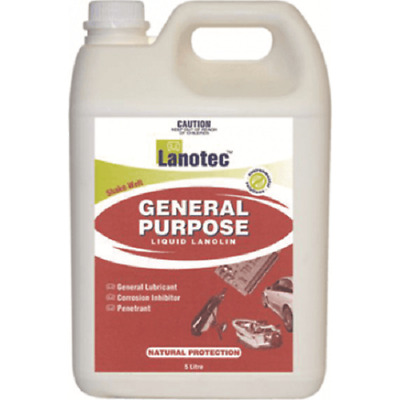 Lanotec GENERAL PURPOSE LIQUID LANOLIN 5L Bottle, Lubricant/Penetrant*Aust Brand