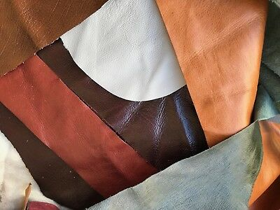 Genuine Leather Offcuts Remnants Pieces - 1 KILO - CHEAPEST & GREAT QUALITY