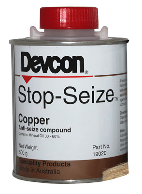 Devcon STOP SEIZE COPPER 500g Heavy Duty, High Temp, Water-Repelling *Aust Made