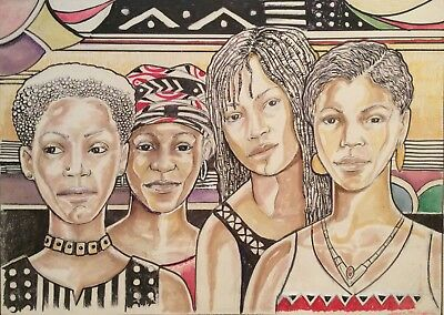 The Gathering by Leon McDuffie Mini Print -  African American Art - New