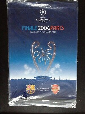 ARSENAL v BARCELONA - BRAND NEW CHAMPIONS LEAGUE FINAL PROGRAMME 2006 - SEALED