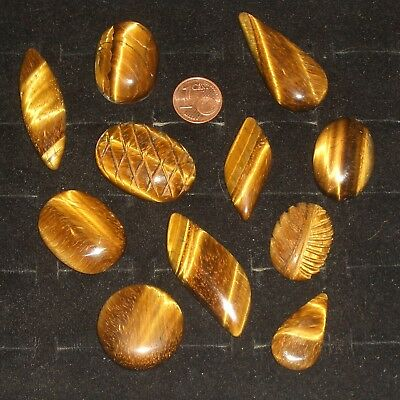 11 Stück Tigerauge Cabochon - 419 Karat - Lot - 83,6 Gramm - Tiger - eye