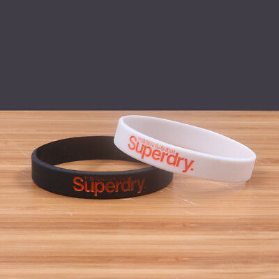 Superdry Sport Silicone Rubber Baller ID Band Wristband Bracelet Free Shipping