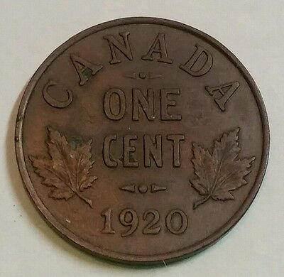 1920 Canada Small Cent 1 Cent 1C Penny High Grade! Free Shipping!