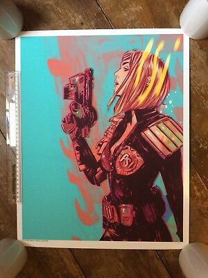 TULA LOTAY Psi Judge Anderson Vice Press Print 43 / 50 Dredd 2000ad Art SOLD OUT