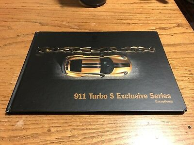 Porsche 911 Turbo S Exclusive Series Hardcover Book Brochure Sales Catalog