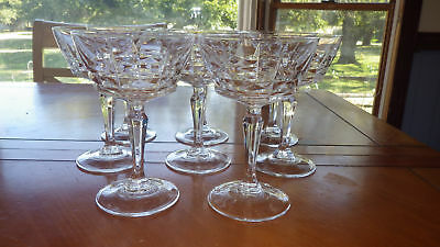 Clear Crystal Champagne Glasses Tall Sherbet in Chateaudun Cristal D'Arques 8