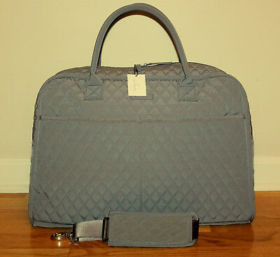 NWT Vera Bradley Weekender Carbon Gray Tote Travel Carry On Bag Luggage
