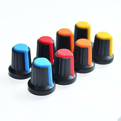 Useful  Hot 10PCS Face Plastic for Rotary Taper Potentiometer Hole 6mm Knob JB
