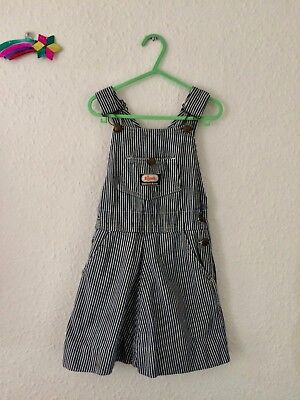 Vintage Kids Osh Kosh 90s Pinafore Classic Hickory Stripe Dungaree Dress 3 Y