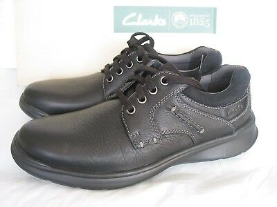 New Clarks Cotrell Step Cushion Ortholite Black Leather Shoes Various Sizes