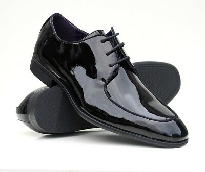Clearance Mens Patent Shoes Wedding Shiny Italian Formal Office Party Casual