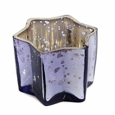 Insideretail Wedding Teal ight Holders, Vetro, Lilac, 7 x 7 x 7 cm, (U4e)