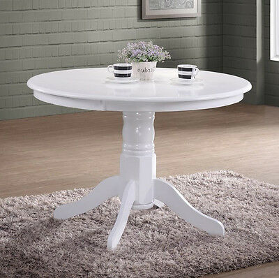 French Dining Table Shabby Chic Furniture White Round Wooden Small Kitchen Room