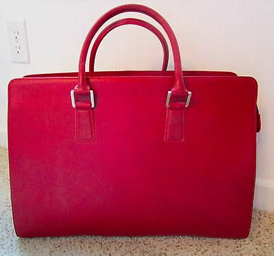 Franklin Covey Legacy Leather Business Tote/Laptop Bag - Burgundy