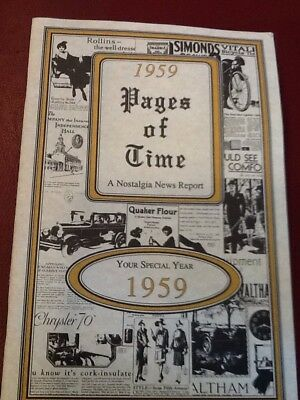 1959  Pages of Time Nostalgia News Report Booklet