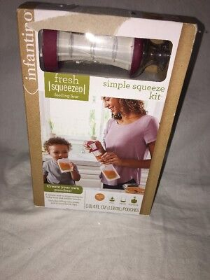 Infantino Fresh Simple Squeeze Kit Feeding Infant Baby Toddler Home Kitchen B-AE