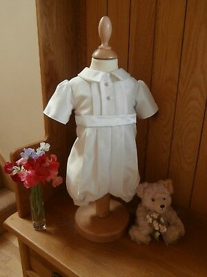 Boys Christening Gown - Baptism Romper Suit - Baby Naming Ceremony- Dedication