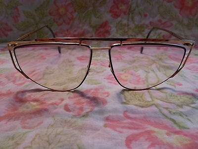 4793542b38a Vintage Eyeglasses Eyeglass Frame Abstract Geometric Modern Style Black    Gold