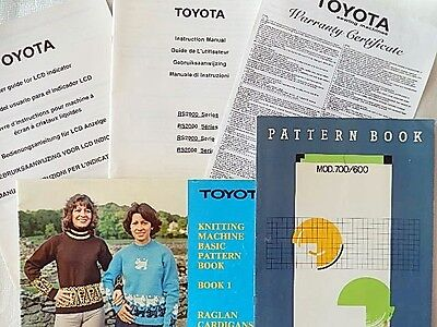 Knitting Machine Toyota Instruction Manuals RS2000 LCD Indicator Pattern Books